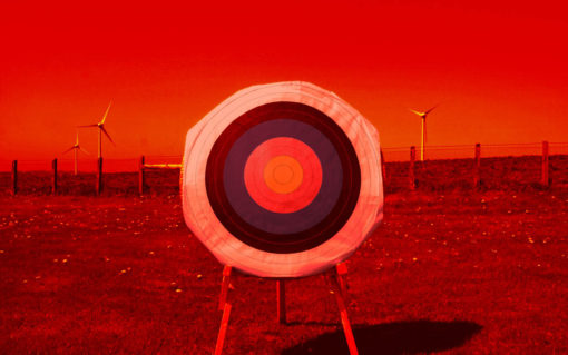 X Sight Archery shooting glasses - Lens visualisation - This is how the target looks when seen through the red lens