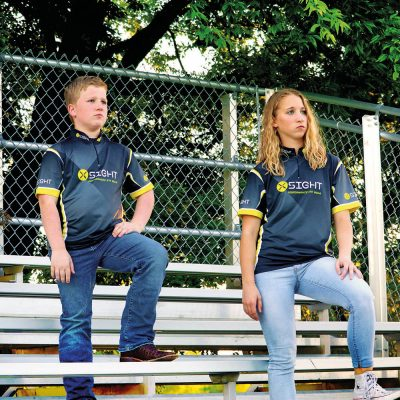 children wearing x sight archery jersey shirts