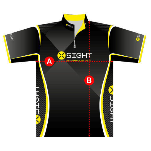 X Sight Archery shirt / jersey size chart