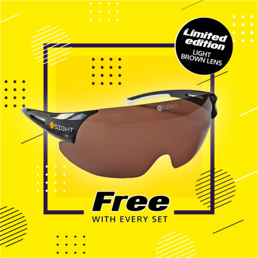 Receive a free light brown lens with every set purchased