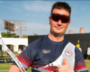 Invictus games gold medalist wearing x sight archery glasses